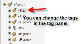 Changing tags is easy in tags panel